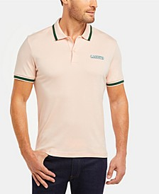 Men's Regular Fit Short Sleeve Jersey Polo Shirt with Lacoste Heritage Logo