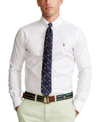 폴로 랄프로렌 셔츠 (클래식 핏) Polo Ralph Lauren Mens Estate Classic/Regular Fit Pinpoint Oxford Dress Shirt,White