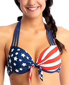 Americana  Underwire Push-Up Bikini Top, Created for Macy's
