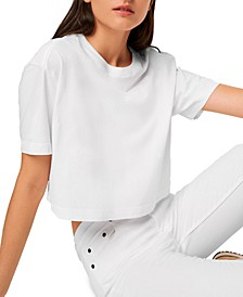 Sahanna Cotton Cropped T-Shirt