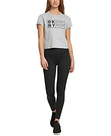 Sport Cotton Logo Cropped T-Shirt