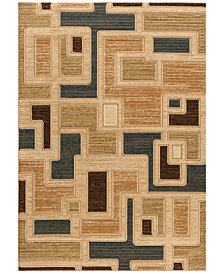 "CLOSEOUT! Kenneth Mink Runner Rug Northport J101 Blue 2'3"" x 7'7"""