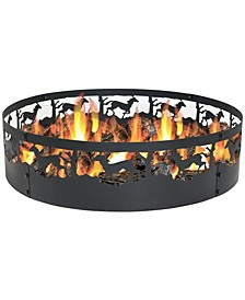 Running Horse Fire Pit Campfire Ring Large Fire pit