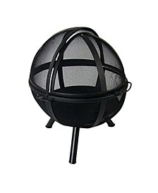 Sphere Flaming Ball Fire Pit with Protective Cover