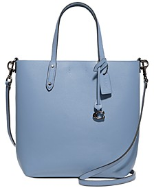 Refined Calf Leather Central Shopper Tote