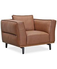 "Aubreeze 41"" Leather Accent Chair, Created for Macy's"