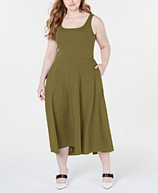 Plus Size Sleeveless Fit & Flare Midi Dress, Created for Macy's
