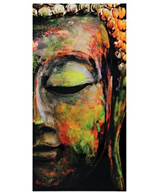 "Buddha Frameless Free Floating Tempered Art Glass Wall Art by EAD Art Coop, 72"" x 36"" x 0.2"""