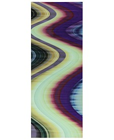 """Rumba Abstract 3 Frameless Free Floating Tempered Glass Panel Graphic Abstract Wall Art, 63"""" x 24"""" x 0.2"""""""
