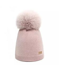 Baby Girl Wool Pom-Pom Hat