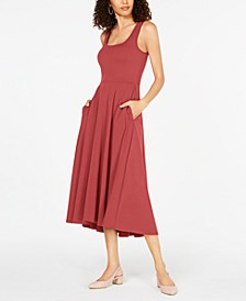 Petite Fit & Flare Midi Dress, Created for Macy's