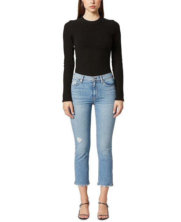 Hudson Jeans Barbara Ripped Straight-Leg Jeans