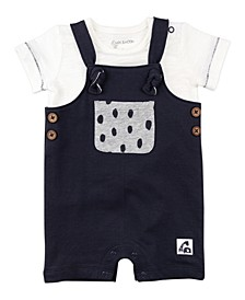 Baby Boys & Girls 2-Piece Shortall Set