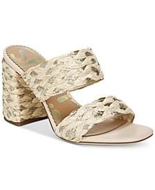 Women's Estella Woven Double-Band Dress Sandals