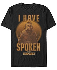 Men's Star Wars The Mandalorian Kuill I Have Spoken Circle Short Sleeve T-shirt