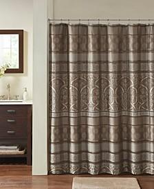 "Zara Jacquard Shower Curtain, 72"" W x 72"" L"