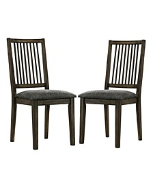 Aterno Spindle Back Side Chairs, Set of 2