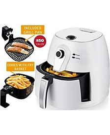 Electric Air Fryer with 3.2 Quarts Non-Stick Frying Basket Grill Pan