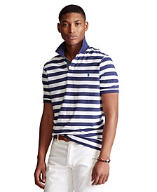 Men's Big & Tall Classic-Fit Striped Jersey Polo Shirt