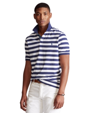 Polo Ralph Lauren Men's Big & Tall Classic-Fit Striped Jersey Polo Shirt