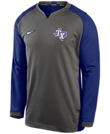 Texas Rangers Men's Authentic Collection Thermal Crew Sweatshirt