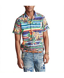Men's Custom Fit Floral-Serape Shirt