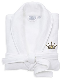 Satin Piped Trim with Waffle Terry Bath Robe