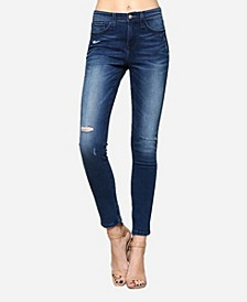 High Rise Distressed Skinny Jeans