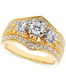 Diamond Three-Stone Engagement Ring (1-1/4 ct. t.w.) in 14k Gold