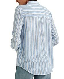 Striped Classic One-Pocket Shirt