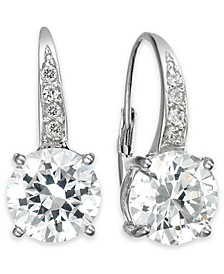 Cubic Zirconia Leverback Earrings in 18k Gold over Sterling Silver, Created for Macy's