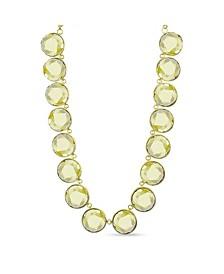 Gold-Tone Circle Stone Necklace