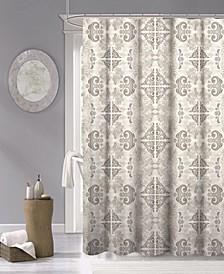 "Mosaic Fabric Shower Curtain, 70"" x 72"""