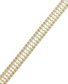 Italian Gold Cleo Bracelet in 10k Gold
