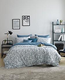 Soft Modern Modal Cotton 3 Pieces Geometric Pattern Duvet Cover Set, Full/Queen