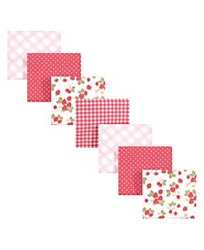 Baby Girls Flannel Receiving Blankets Bundle, Pack of 7