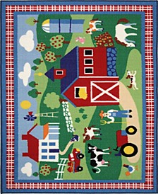 "Olive Kids Country Farm 19"" x 29"" Area Rug"