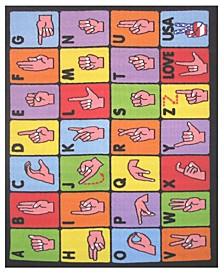"""Fun Time Sign Language 19"""" x 29"""" Area Rug"""