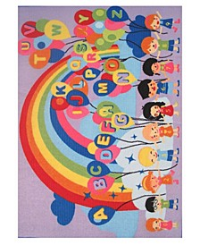 "Fun Time Educational Balloons 19"" x 29"" Area Rug"