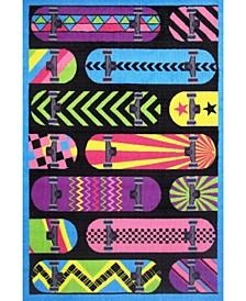 "Fun Time Gnarly Boards 19"" x 29"" Area Rug"