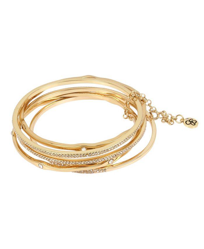 "Jessica Simpson - Pave Mixed Bangle Bracelet Set, 8"""