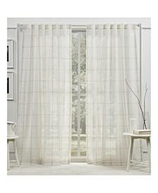 "Rubin Sheer Back Tab Rod Pocket Curtain Panel, 54"" x 108"""