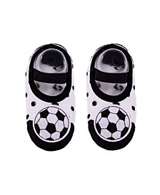 Toddler and Little Boys and Girls Socks with Soccer Applique