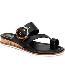 Women's Step 'N Flex Maudd Toe-Loop Demi-Wedge Sandals, Created for Macy's