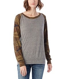 Slouchy Printed Eco-Jersey Women's Pullover Top