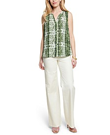 Pleated Printed Blouse