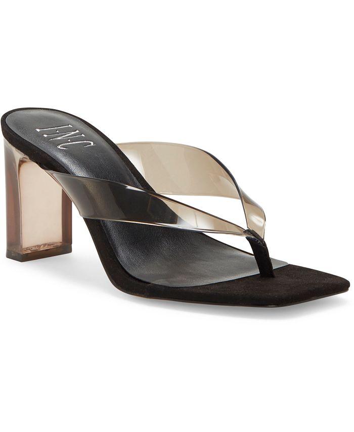 INC International Concepts - Women's Myrene Vinyl Toe-Thong Sandals