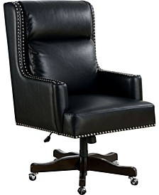 Binker Adjustable Nailhead-Trimmed Office Chair