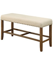 Langly Upholstered Pub Bench