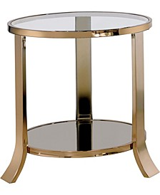 Kela Glass Top End Table
